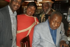 Vanessa with With Freddy Cole, Patience Higgins and Rome Neal