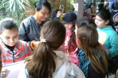 Community outreach with children at music school in Paraguay
