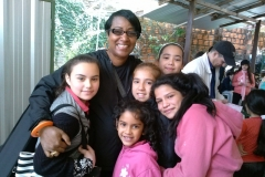 Community outreach with children in Paraguay