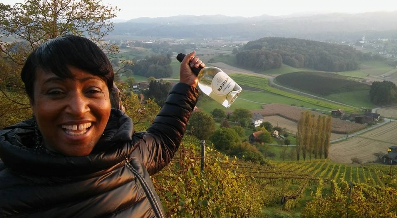 After the fog lifted it was a phenomenal view! Hanging on the vineyard after performing at the Liebnitz Jazz Festival
