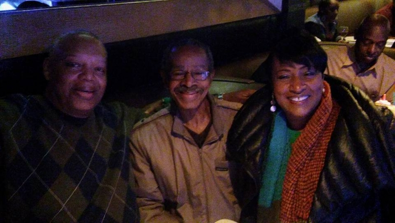 Bakers in Detroit. Sitting with Gene Dunlap and George Davidson