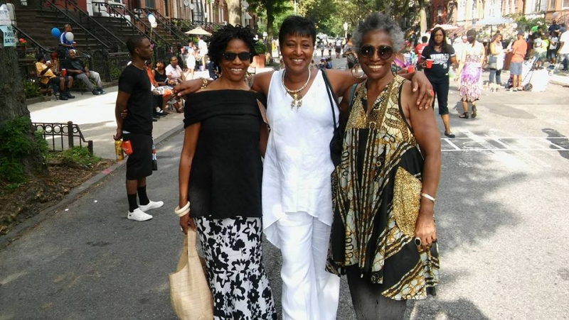 Brooklyn beauties Loretta and Viola from Sisters Place came by during my Jazz Mobile date. Always a pleasure and blessing to see them