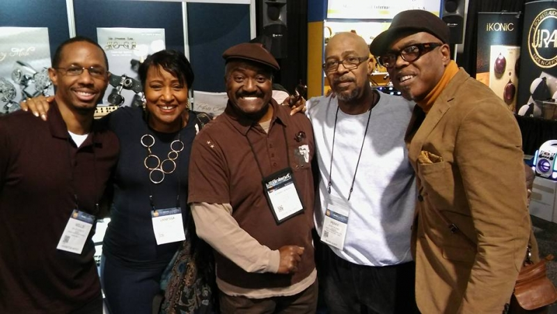Detroit all around me! Willie Jones, me, Harry Bowens, Perry Hughes and Jacques-Kimberly Lesure NAMM 2017