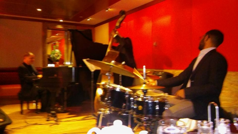 John DiMartino, Lonnie Plaxico and Jerome Jennings last night with me at Kitano's. Fun, musical and swinging!