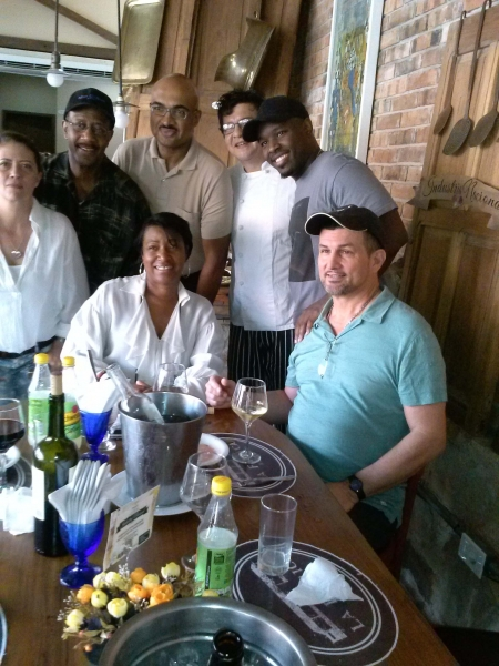 Lunch with band in Paraguay