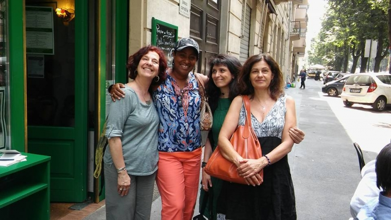 Lunching in Milan with the Director of Civica Scuola di Musica di Milano and his lovely staff-1