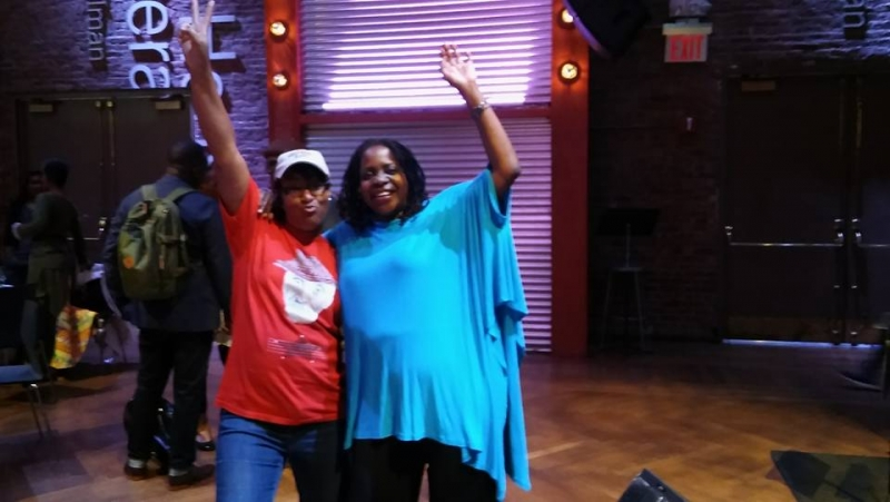 Me and Carla Cook — at BAM
