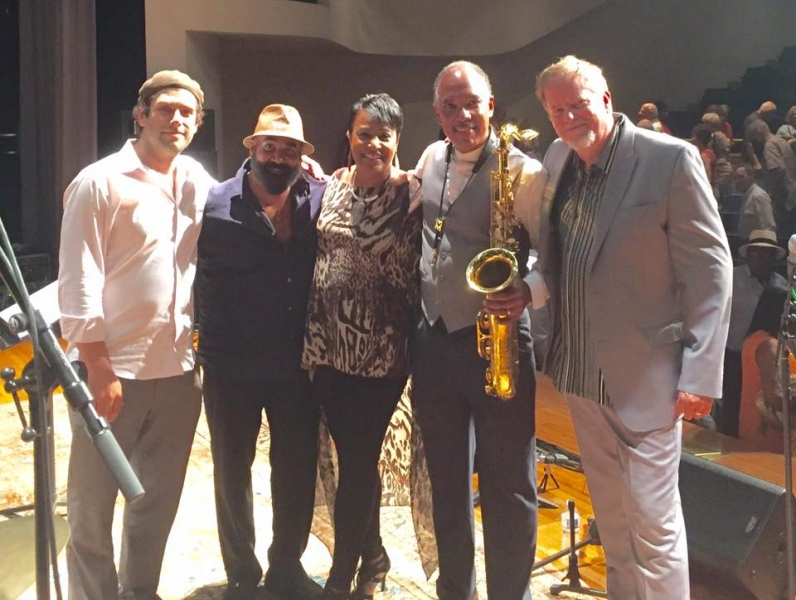 Nice concert at Baltimore Museum of Art today -Don Braden_Vanessa Rubin Band w Cecils Jazz Cecil Brooks III and Jared Gold