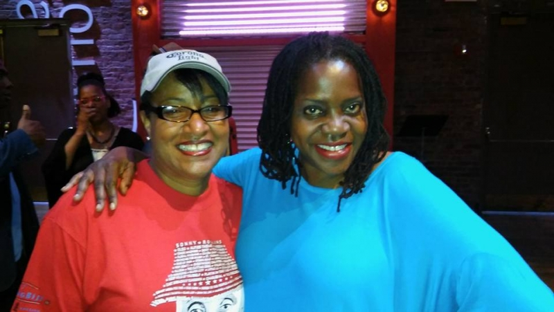 Sista's in Song! Me and the soulful Carla Cook