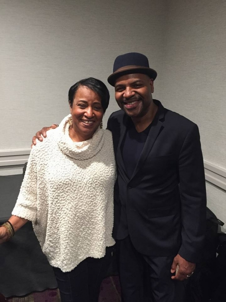 The guitar summit at the MAJF was awesome. Chatting with Bobby Broom