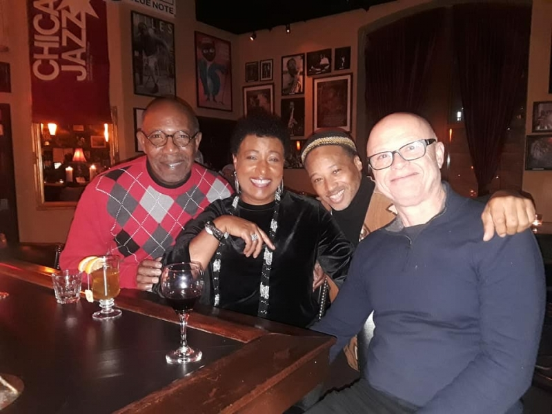 Vanessa In Chicago, Jazz Showcase between sets with Ahmed, Winard and Wayne Segal