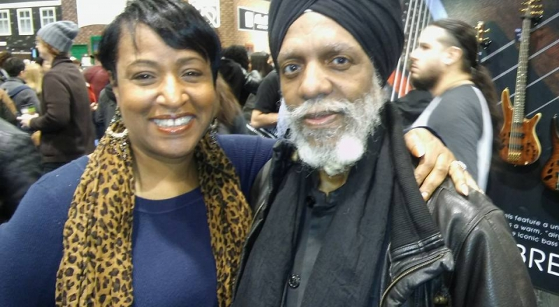 Vanessa with Dr. Lonnie Smith at NAMM 2017