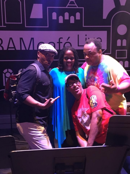 With Carla Cook, Vanessa Rubin and Jeff Watts at BAM