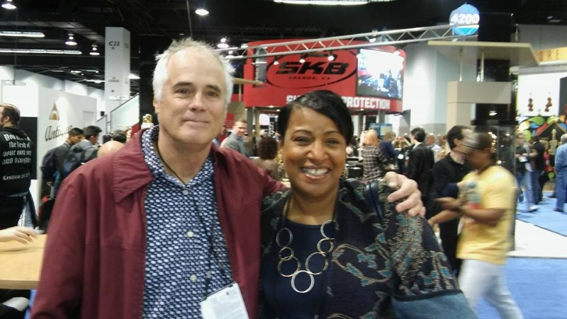 With Lee Mergner, Publisher of Jazz Times
