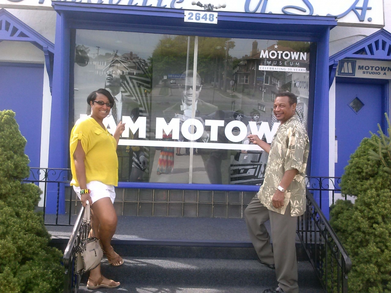 With Miller London at Motown Museum in Detroit