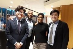 """Vanessa In Singapore withBassist Ben Pho, trombonist, Marques Young,and Sean Hong Wei, alias """"babyface"""", tenor"""