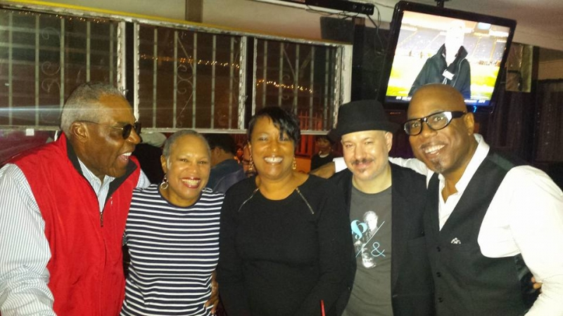 group shot at Lavender Blue in LA with Jacques-Kimberly Lesure. Much clearer than mine. Smile. — with Rhonda Hamilton Carvin and Lesures Jacques Kimberly