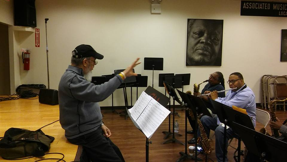 Cecil Bridgewater. Conducting horns with Bruce Williams